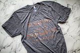 My Bump Says Ice Cream Grey + Metallic Rose Gold Ink Maternity Tee