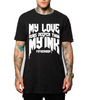 My Love Runs Deeper Than My Ink FATHERHOOD Black + Matte White Ink Tee