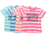 Posing for the Mamarazzi™ Striped Tee (Multiple Colors)