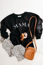 MAMA Floral Sleeve STEPH Pullover *Final Sale