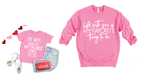 Life With You Is My Favorite Thing To Do Hot Pink + Matte White Ink Mommy + Me Set *Final Sale