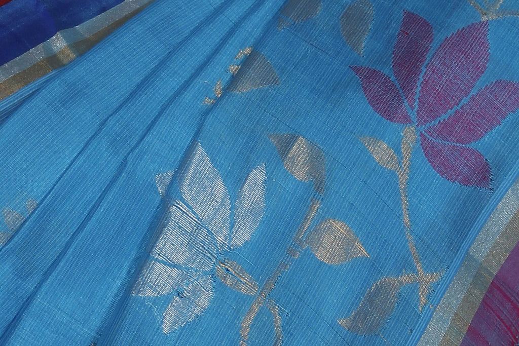 Azure Uppada Handloom Pure Silk Cotton Saree
