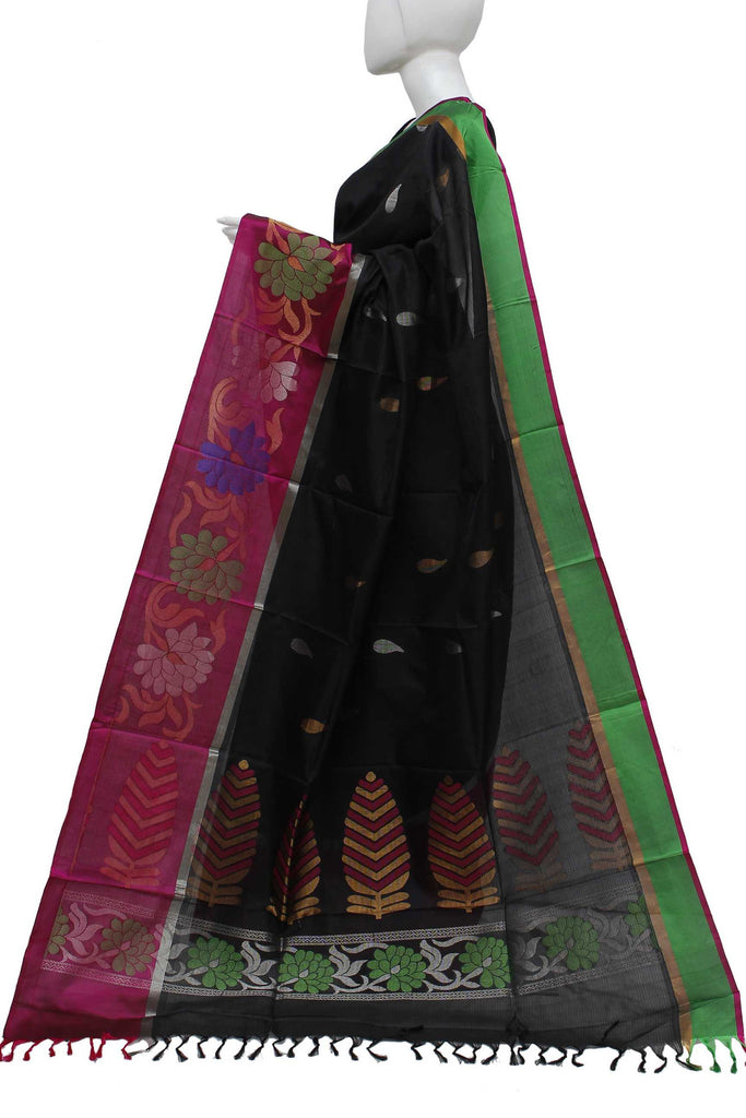 BlackCoimbatore Handloom Pure Silk Saree