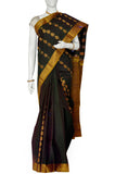 Black  Pure Kanchipuram Handloom Silk Saree