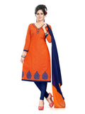 Coral Printed South Pure Cotton Unstitched Salwar Kameez