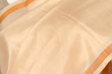Cream Partly pallu Pure Uppada Handloom Silk Saree