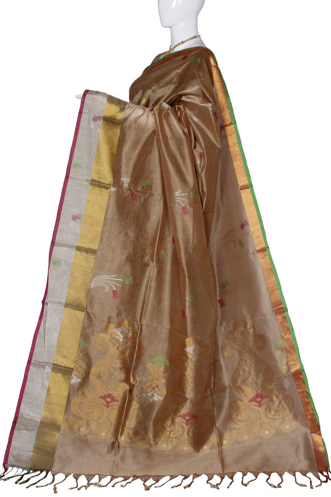 Golden Uppada Handloom Pure Silk Cotton Saree