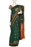 Green Jacquard Kanchipuram Handloom Pure Cotton Saree