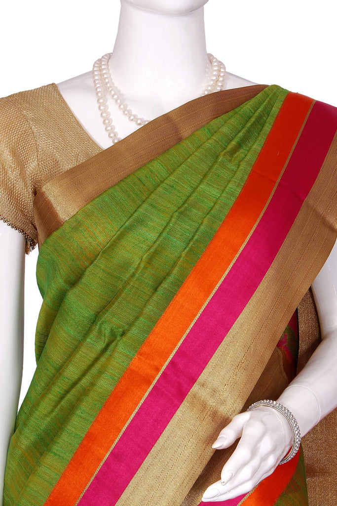 Green Pure Banaras Handloom Silk Saree