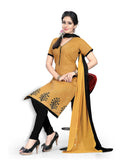 Light Brown Printed South Pure Cotton Unstitched Salwar Kameez