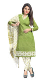 Pastel Green Printed Kalamkari Pure Cotton Unstitched Salwar Kameez 0511260132