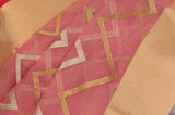 Pink Pure Chanderi Handloom Silk Saree