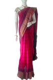 Pink Pure Coimbatore Handloom Raw Silk Saree