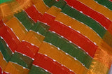 Red & Green Mangalagiri Handloom Pure Cotton Saree