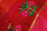 Red Shaded Handwoven Pure Kota Silk Saree