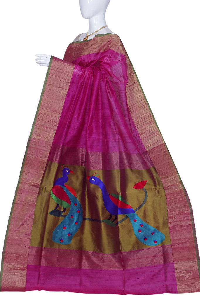 Rose Pure Banaras Handloom Silk Saree