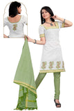 White Embroidered South Pure Cotton Unstitched Salwar Kameez
