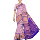 Milk White Kanchi Big zari work border body zari lines Handweave Saree