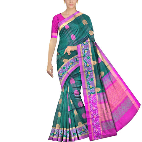 Medium Sea Green Pochampally Kuppadam Kuppadam pochampally body thread buta Saree