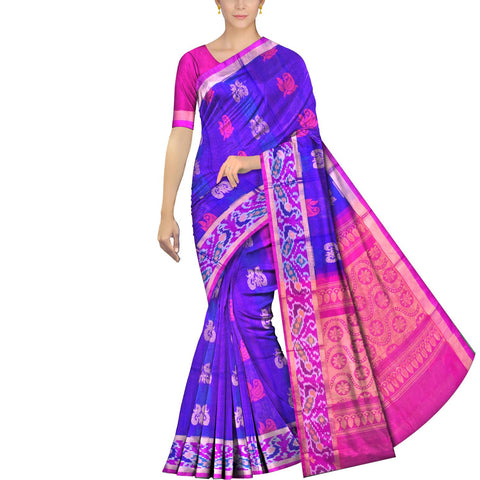Purple Heart Pochampally Kuppadam Kuppadam pochampally body thread buta Saree