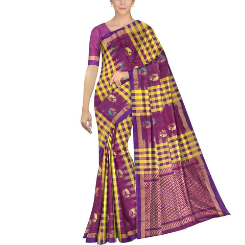 Mustard Ksheerapuri Kuppadam Body checks alternate flower buta Saree