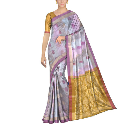 Pearl Pochampally Kuppadam Pochampally body flower buta Saree