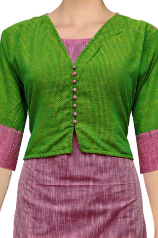 Hot Pink Over Coat Style Tunic South Kurti