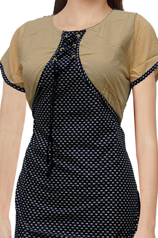 Gunmetal Top Jacket flower body Wrap Kurti Surat Kurti