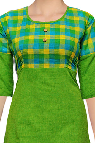 Yellow Green 2 Piece Long A Line South Kurti