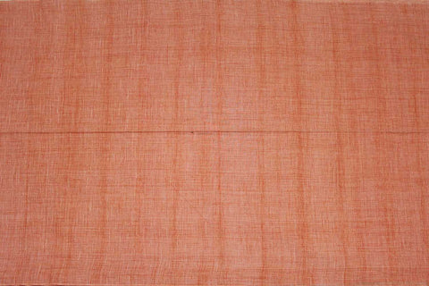 Dark Coral Slub Weave Plain  Negamam Fabric