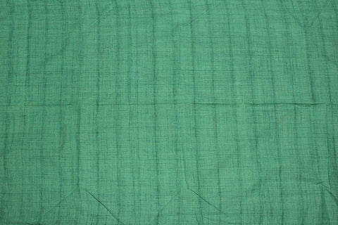Bluish green Slub Weave Plain  Negamam Fabric