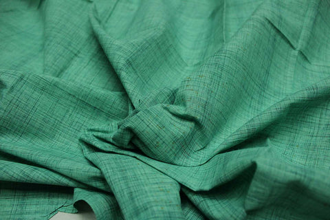 Aquamarine Slub Weave Plain  Negamam Fabric