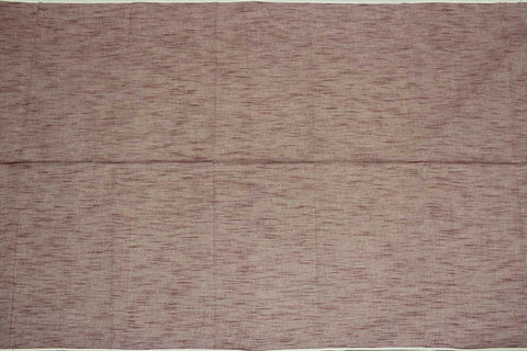 Deep Peach Slub Weave Plain  Negamam Fabric