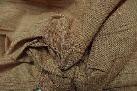 BurlyWood Slub Weave Plain  Negamam Fabric