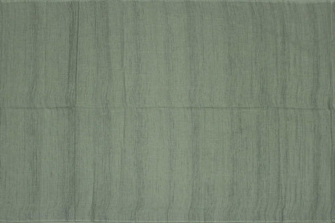 Shadow Green Slub Weave Plain Vertical Doriya Negamam Fabric