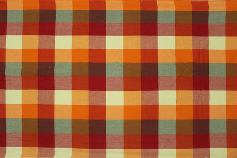 Valentine Red Checks Weave Multicoloured Checks Mangalagiri Fabric