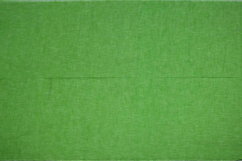 Parrot Green Slub Weave Solids with Dark Slub Mangalagiri Fabric