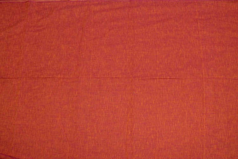 Lava Red Slub Weave Solids with Dark Slub Mangalagiri Fabric