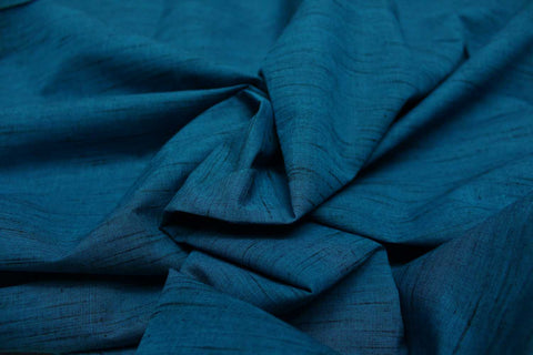 Dark Blue Slub Weave Solids with Dark Slub Mangalagiri Fabric