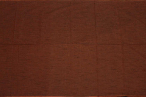 Dark Rust Slub Weave Solids with Dark Slub Mangalagiri Fabric