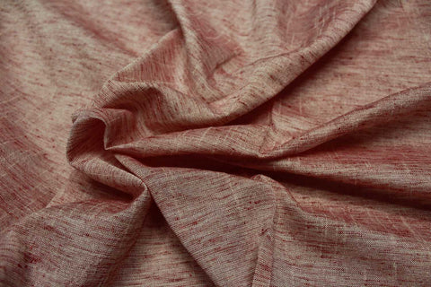 Oriental Pink Slub Weave Solids with Dark Slub Mangalagiri Fabric
