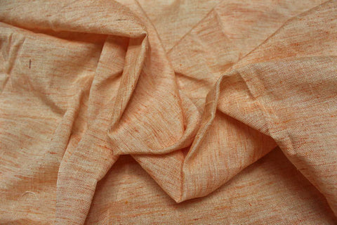 Khaki Slub Weave Solids with Dark Slub Mangalagiri Fabric