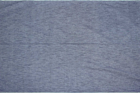 Slate Blue Slub Weave Stripes Slub Zero Finish Negamam Fabric