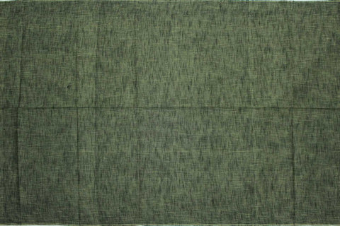 Dark Sea Green Slub Weave Stripes Slub Zero Finish Negamam Fabric