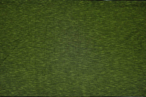 Shamrock Green Slub Weave Stripes Slub Zero Finish Negamam Fabric