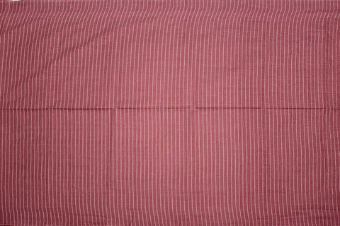 Rogue Pink Checks Weave Vertical Stripes Mangalagiri Fabric