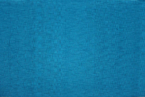 Silk Blue Slub Weave Checks Slub Negamam Fabric