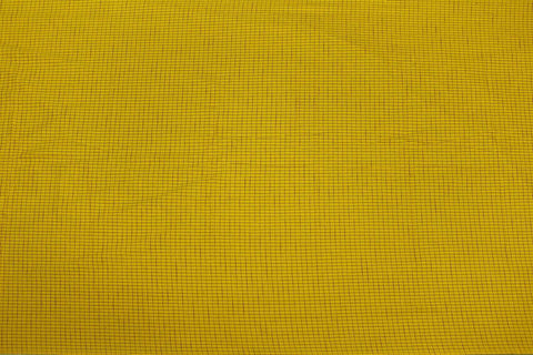 Bright Gold Checks Weave Micro Checks Kanchi Fabric