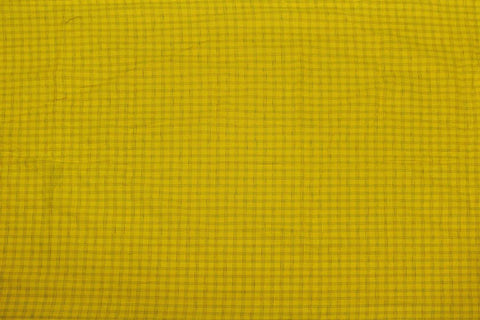 Bright Gold Checks Weave Emboss Checks Kanchi Fabric