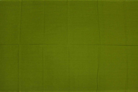 Olive Green Plain Weave Plain Colour Kanchi Fabric